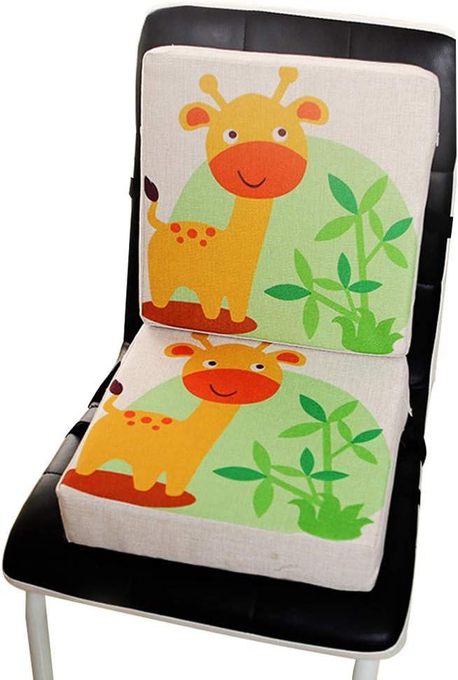 in lino per sala da pranzo Set di coprisedili per bambini Babyblume Booster regolabile Giraffa