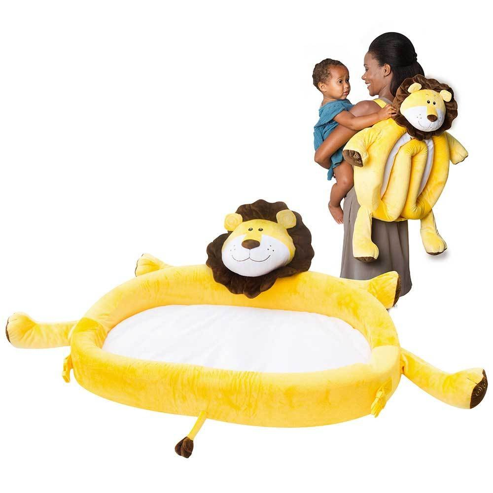 On The Go Toddler Lounger by LulyZoo - Plush Lion - Folds Into Backpack by LulyBoo   B018EPXJRS