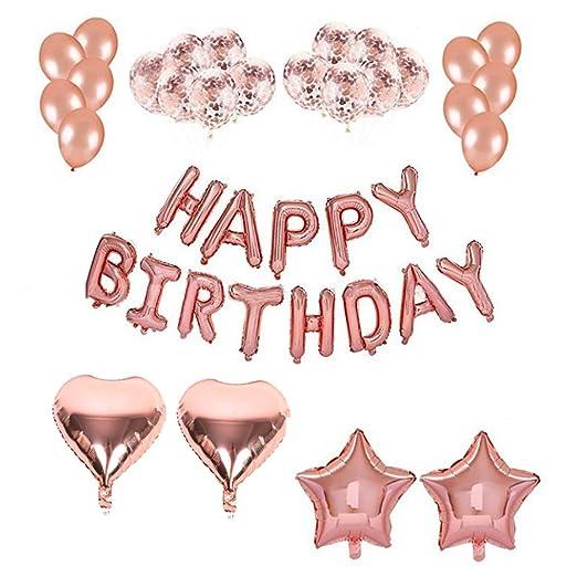 Linyuo Decoración Cumpleaños de Fiesta Globos Happy Birthday ...