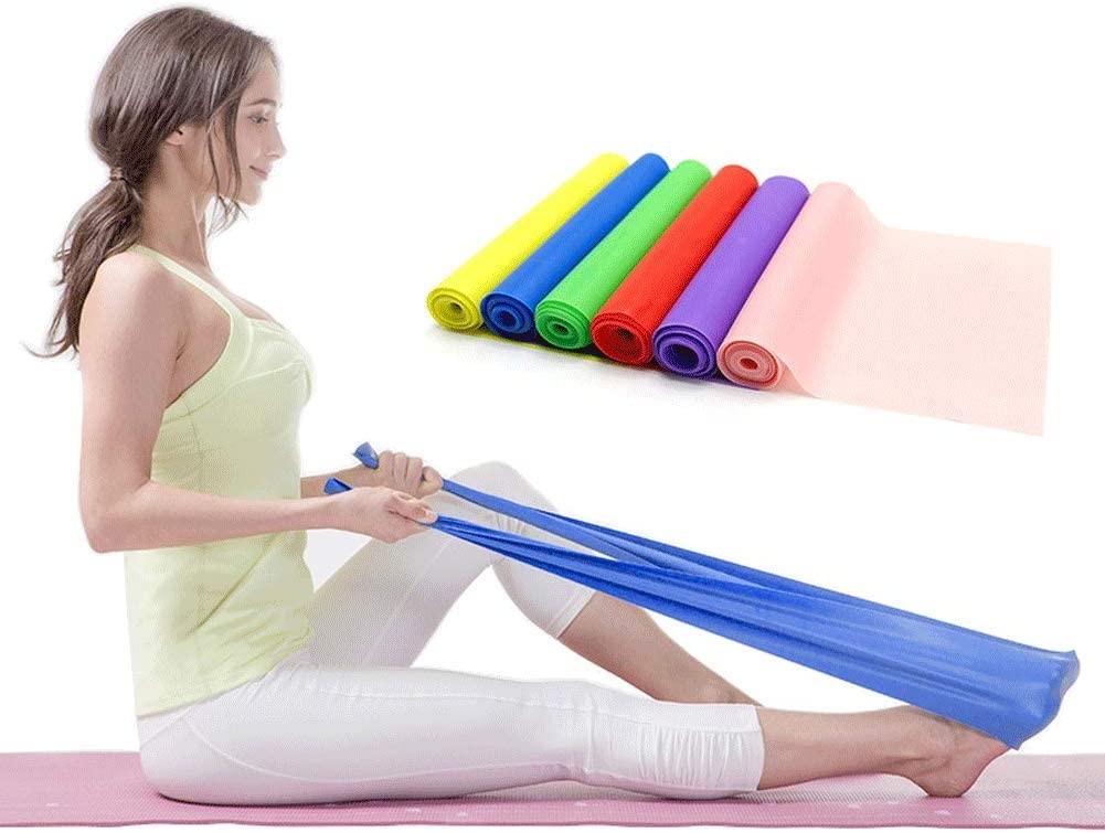 Resistance Loop Bands, Resistance Exercise Bands for Home Fitness, Stretching, Strength Training, Physical Therapy, Natural Latex Workout Bands, Pilates Flexbands