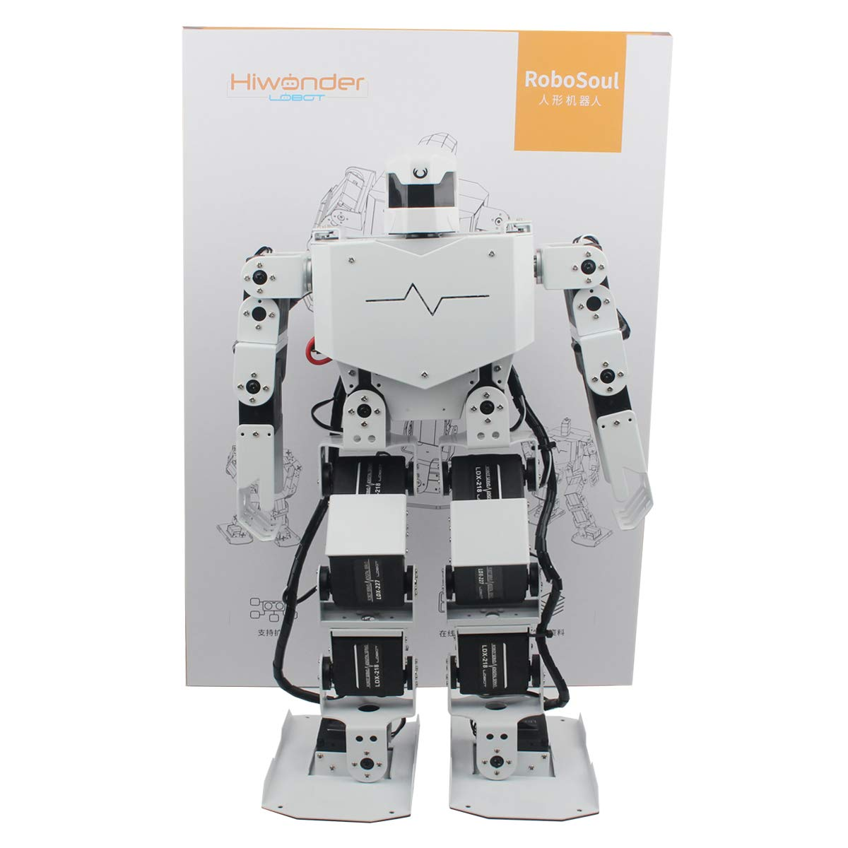Hiwonder H3S 16DOF Biped Humanoid Robot Kit with Free APP, MP3 Module, Detailed Video Tutorial Support Sing Dance(Assembled) by LewanSoul (Image #4)