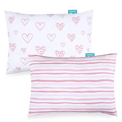 100/% Cotton Ultra Soft /& Breathable Travel Pillowcase Fit 14 x 18 or 14 x 18 Small Baby Pillow for Boys and Girls Kid Toddler Pillowcase 2 Pack White