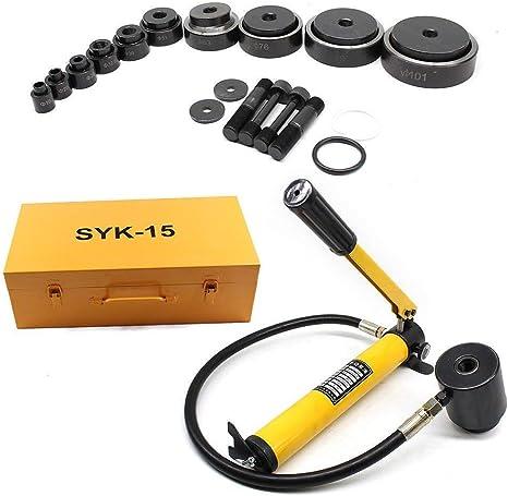 Perforadora de chapa hidr/áulica de 15 tonos herramienta de cilindro hidr/áulica DiLiBee