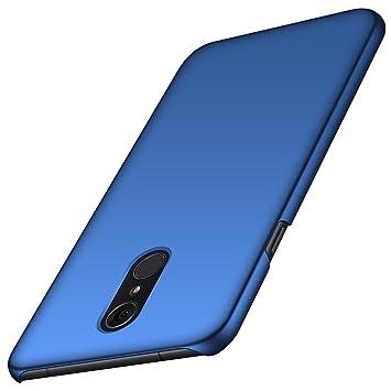 anccer Funda LG Q7/Q7+/Q7a [Serie Colorida] [Ultra-Delgado] [Ligera] Anti-rasguños Estuche para Carcasa LG Q7/Q7+/Q7a (Azul Liso)