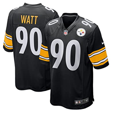 best website f5631 ca4ae Nike TJ Watt Pittsburgh Steelers Game Youth Black Jersey (Youth Sizes)