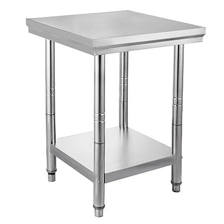 Chaneau - Mesa de trabajo cocina 60 x 76 x 80 cm/60 x 60 x 80 cm ...