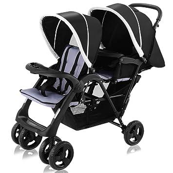 HONEY JOY Foldable Baby Kids Stroller Folding Infant Buggy Pushchair Travel System with Canopy Grey