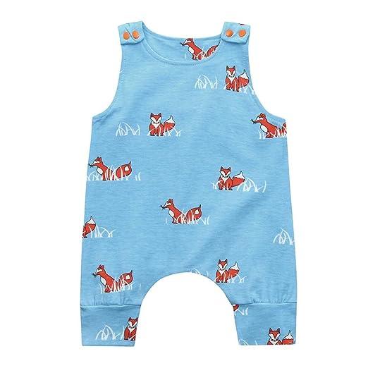 3b7877505873 Amazon.com  Rucan Baby Romper Cute Newborn Infant Baby Boys Girls Fox Panda Print  Romper Jumpsuit  Clothing