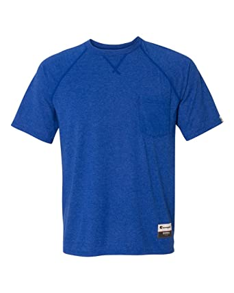 38e3c3b97 Champion AO250 Originals Soft-Wash Pocket Tee: Amazon.co.uk: Clothing