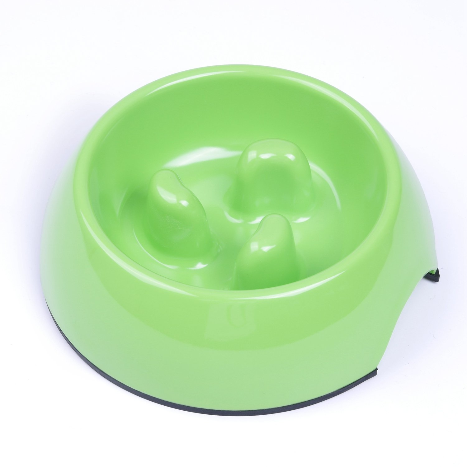SuperDesign Heavy Duty Melamine Non-skid Slow Feed Pet Bowl For Dogs and Cats