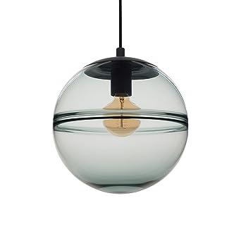 hand blown lighting. CASAMOTION Optic Contemporary Hand Blown Glass Pendant Light, Ceiling Hanging Lighting Fixtures, Light Blue