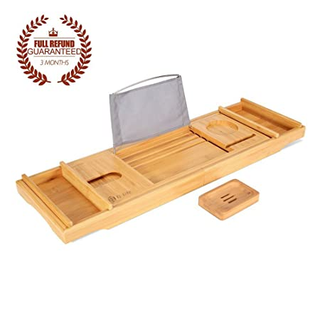 bathroom bamboo tub natural p other caddy bathtub accessories pp over langria the