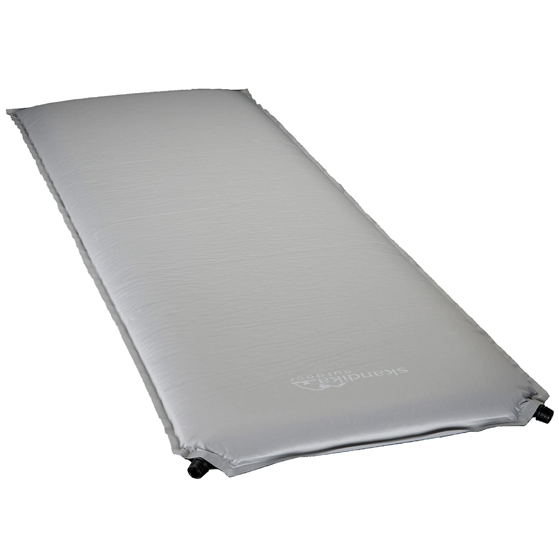 Skandika selbstaufblasbare Isomatte Comfort, grau, 190x65x6, 924005