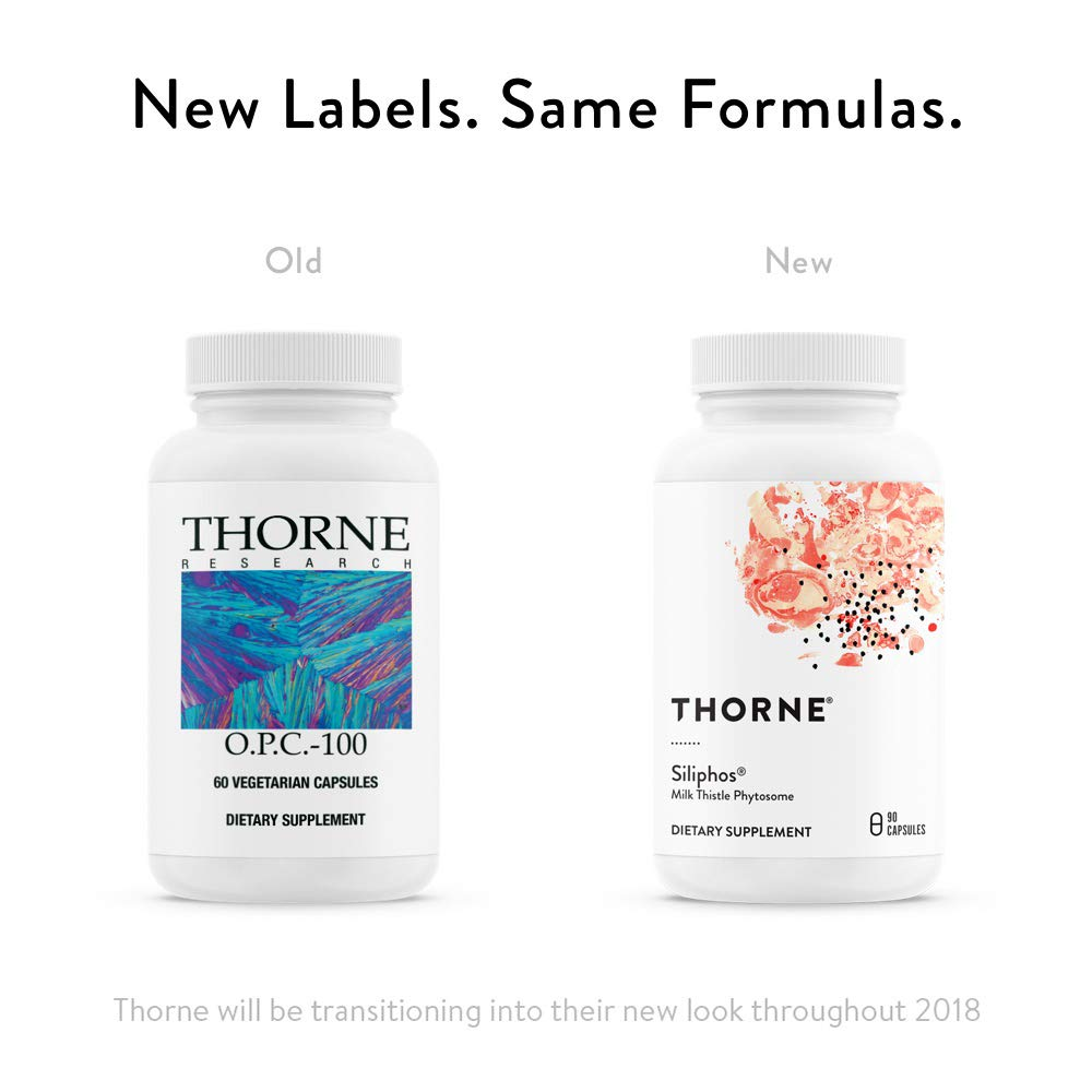 Thorne Research - O.P.C.-100 - Grape Seed Phytosome for Antioxidant Support - 60 Capsules by Thorne Research (Image #3)