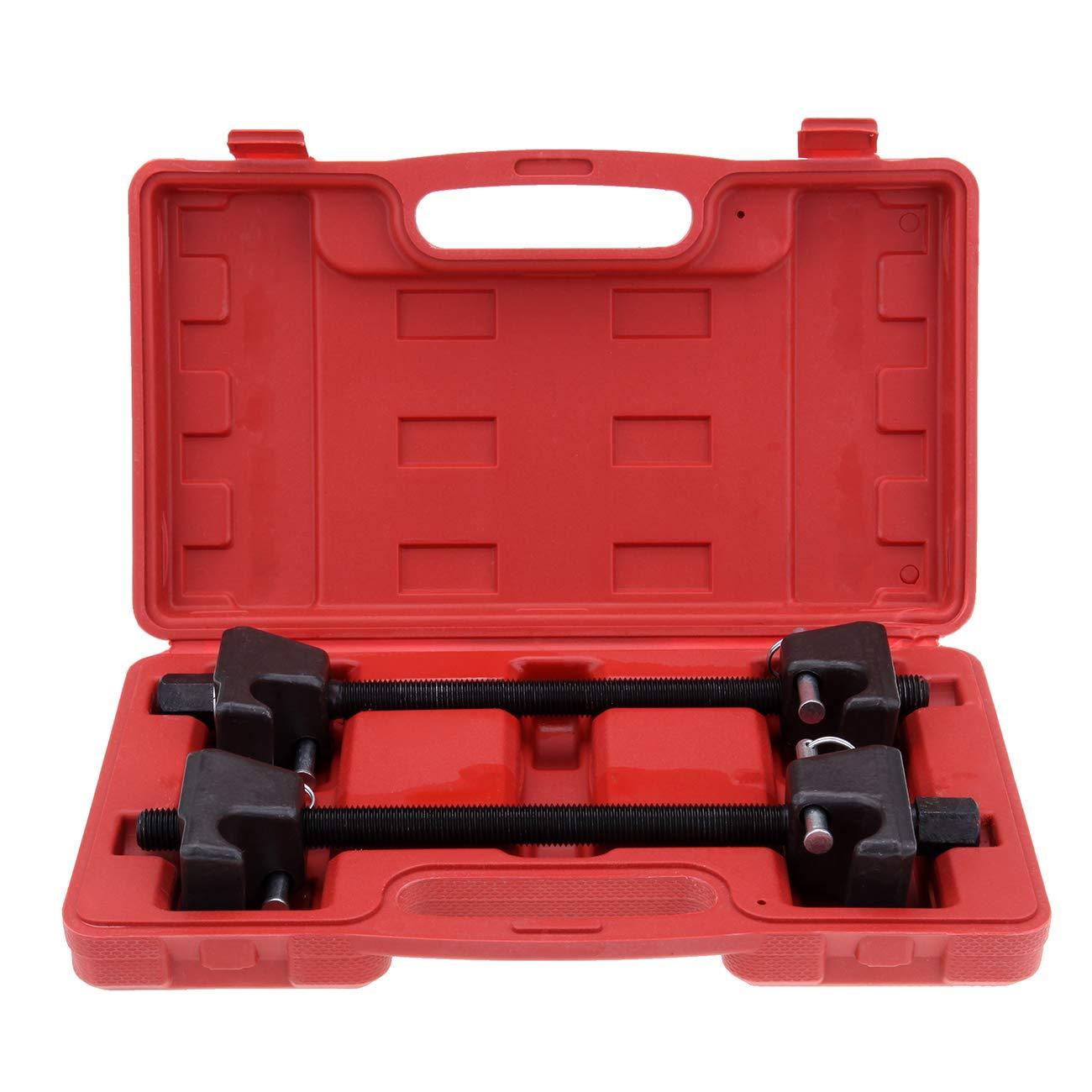 Ambienceo 2PC Compresseur à ressort hélicoïdal pour Macpherson Struts, Absorbeur de chocs kit d'outil de garage Auto Absorbeur de chocs kit d'outil de garage Auto