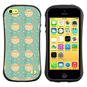 DesignCase Premium TPU / ABS Hybrid Back Case Cover Apple iPhone 5C ( assorted butterfly )