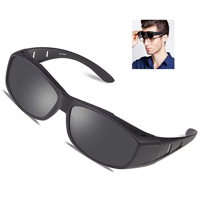 b6bcc5e9c5 Over glasses sunglasses Polarized for men women Sunglasses Wear Over fit  over Prescription Glasses
