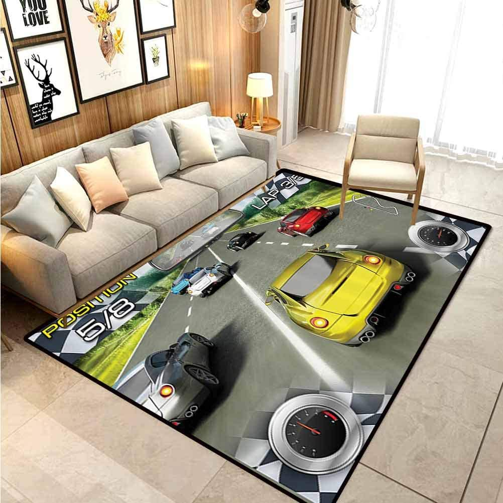 Amazon Com Video Games Children Play Princess Room Decor Rug Cars Decor Racing Video Gaming Illustration Need Speed Road Competition Extreme Motor Sports Theme Rugs And Carpets Multi 5 X 6 Ft Kitchen
