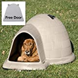 Petmate Indigo Dog House with FREE Dog Door - Tan - Large - (43.8L x 34W x 25.8H in.)