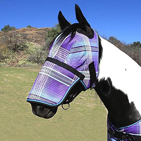 Kensington Long Nose Fly Mask Medium Lavender Mint