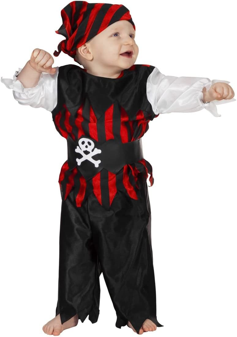 Stekarneval - Disfraz de pirata infantil, talla 2-3 años (302498 ...