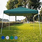 Sundale Outdoor UV-Protected Iron Outdoor Folding Canopy Instant Shelter Foldable Tent Patio, Green
