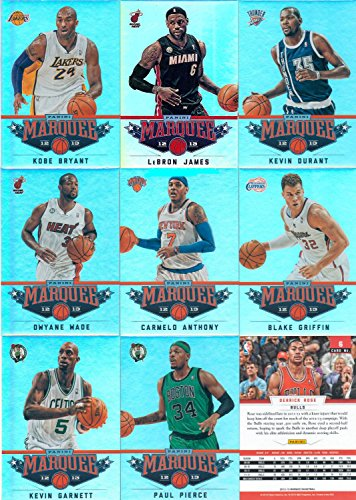 2012 2013 Panini Marquee Basketball Complete Mint Basic 100 Card Set with Lebron James, Stephen Curry Plus M (Mint) (Basketball Card Refractors)