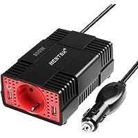 BESTEK Convertisseur 300W 12V à 230V Adaptateur Allume-Cigare avec Prise Electronique et Double Ports USB - Noir