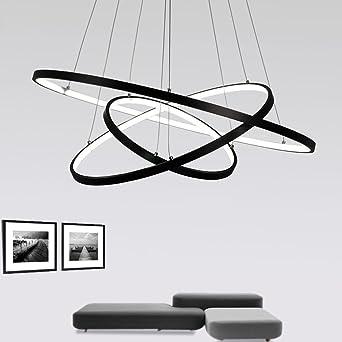 72W LED Pendelleuchte Esstisch Modern Drei Ring Design Lampe Innen  Beleuchtung Hängelampe Acryl Leuchte Einfache Dekoration