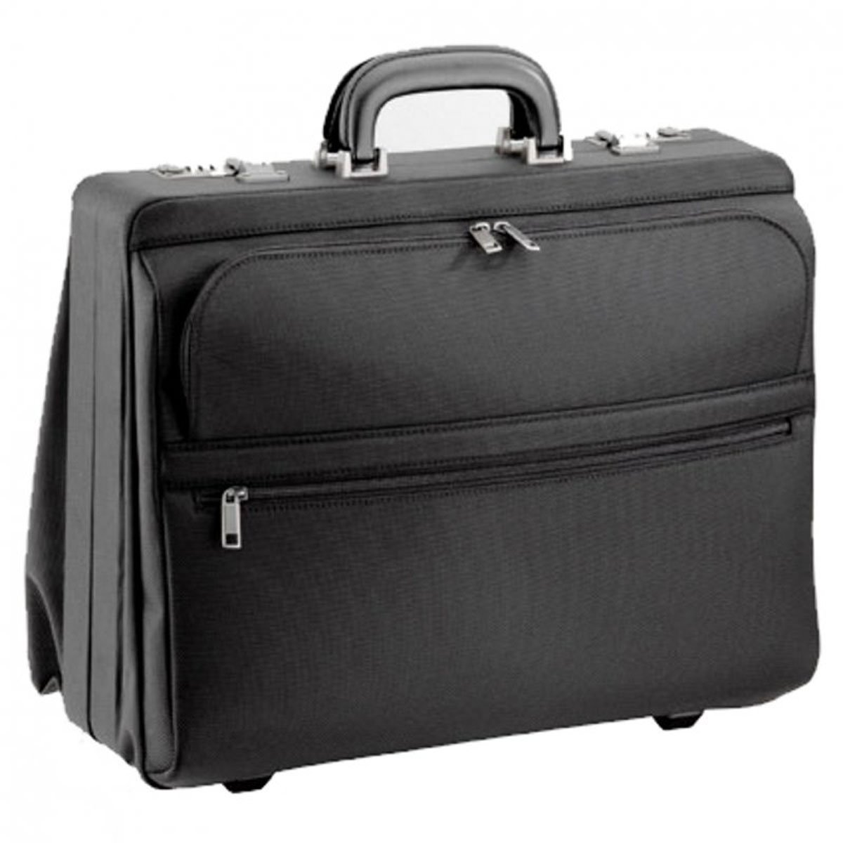 Business Piloten Aktenkoffer Tasche 45x35x20cm Schwarz Bowatex