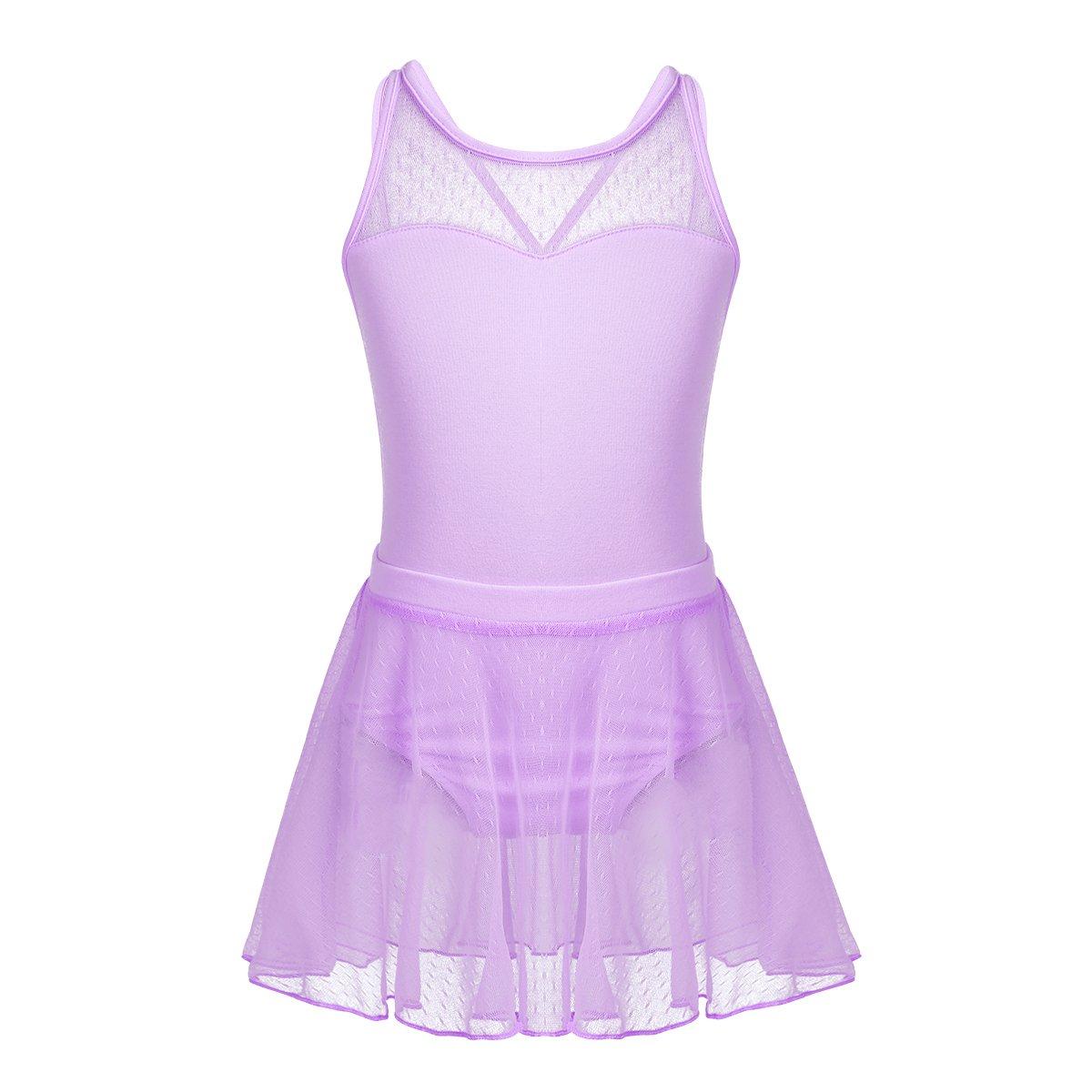 Agoky Girls Camisole Sleeveless Crisscross Back Tutu Dress Ballet Gym Leotard Uniform