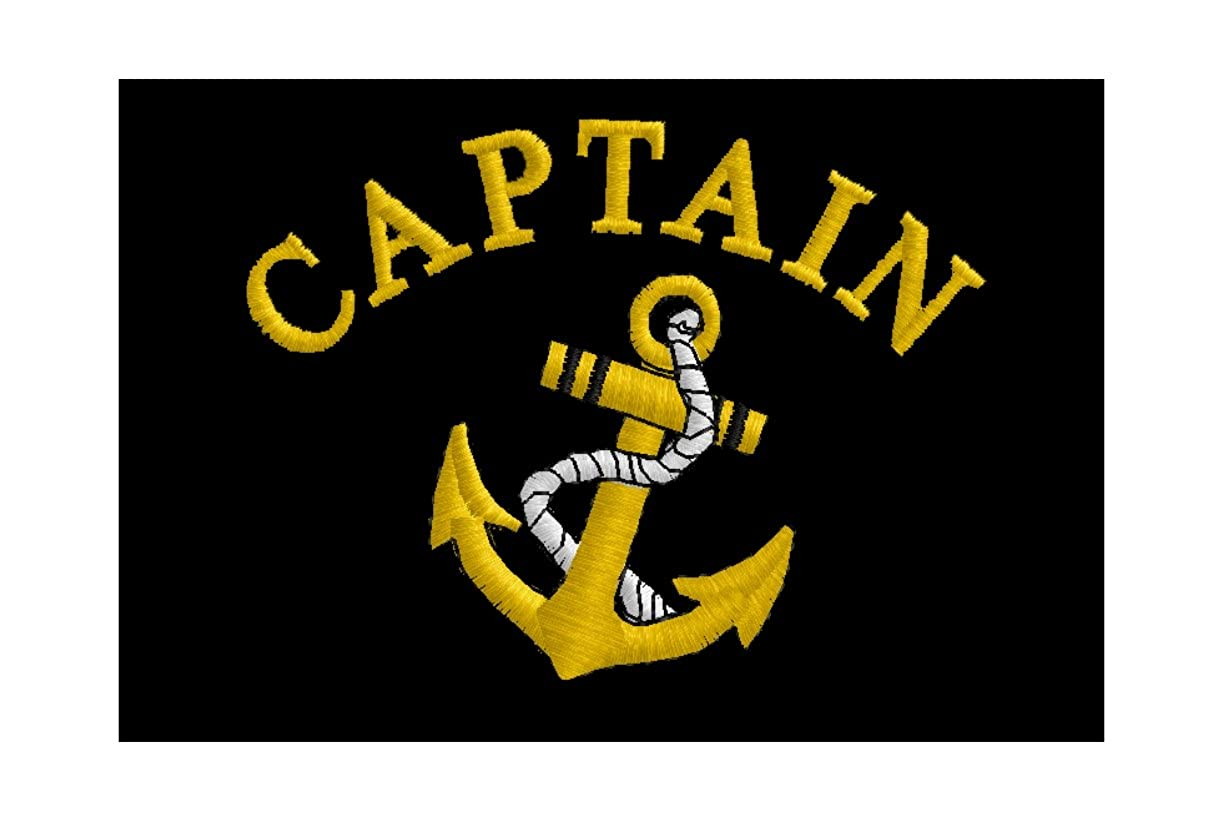 Spiffy Custom Gifts Mens Captain /& Anchor Embroidered Polo Shirt
