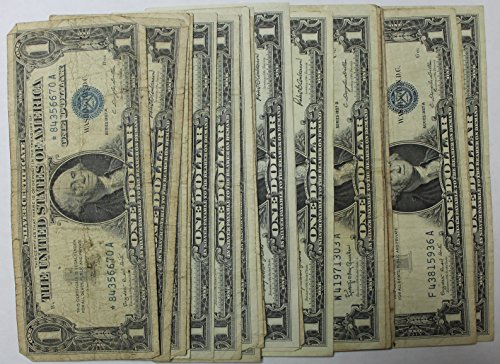 Lot of 25 Mixed Date and Condition $1 Silver Certificates (Gold Silver Bureau)