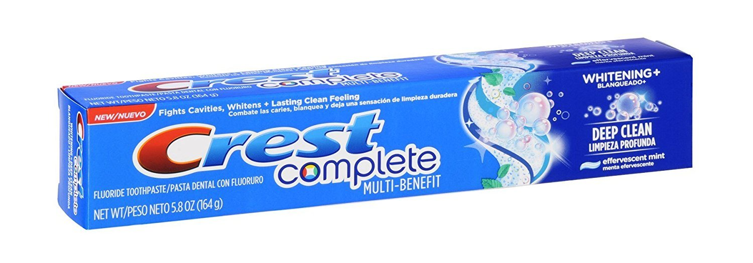 Crest Complete Toothpaste Whitening + Deep Clean, Effervescent Mint 5.80 oz (Pack of 12): Amazon.com: Grocery & Gourmet Food