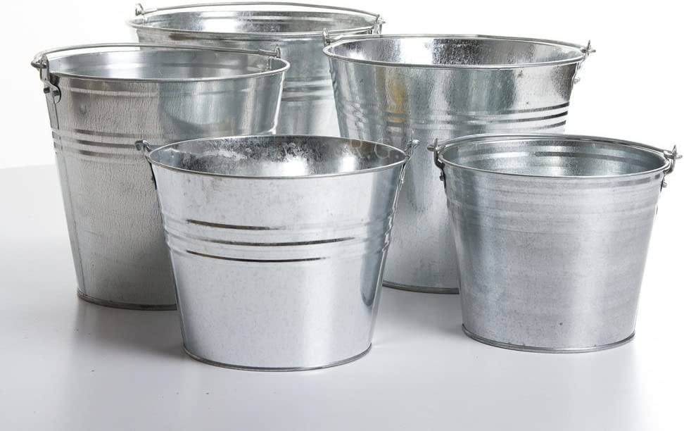 Zinkeimer 14 Liter Wassereimer Blecheimer Eimer verzinkt Metalleimer Dekoeimer