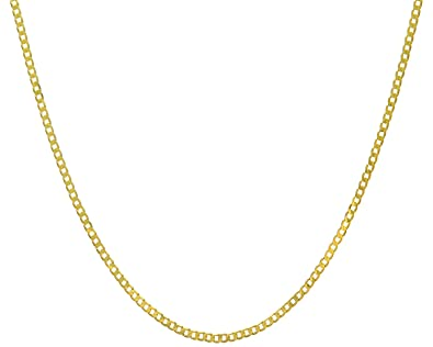 gauge sterling silver available lengths products curb in cuban chain necklace