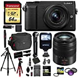 Panasonic LUMIX GX85 Mirrorless Camera With 12-32mm Lens (Black), Panasonic LUMIX G VARIO 45-150mm Lens, Transcend 64 GB Memory Card, Polaroid 57 Tripod, Ritz Gear Camera Case and Accessory Bundle