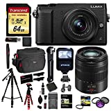 Cheap Panasonic LUMIX GX85 Mirrorless Camera With 12-32mm Lens (Black), Panasonic LUMIX G VARIO 45-150mm Lens, Transcend 64 GB Memory Card, Polaroid 57″ Tripod, Ritz Gear Camera Case and Accessory Bundle