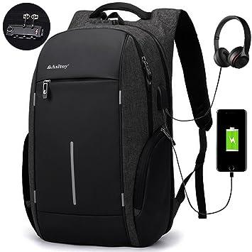 0c24637fe7 Sac à dos pour ordinateur Asltoy professionnel pour ordinateur portable de  17,3 pouces Grande