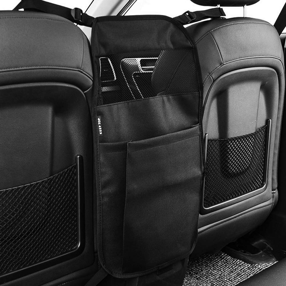Black SUV MoKo Car Seat Organizer Front Back Seat Armrest Double-Side Pocket Pouch Storage Bag Kid Pet Barrier Durable Washable Holder Between Seats for Auto Off-Roads