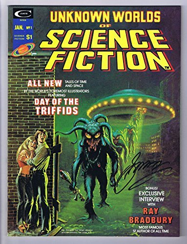 Unknown Worlds of Science Fiction #1 Signed w/COA By Gerry Conway 1974 Curtis…