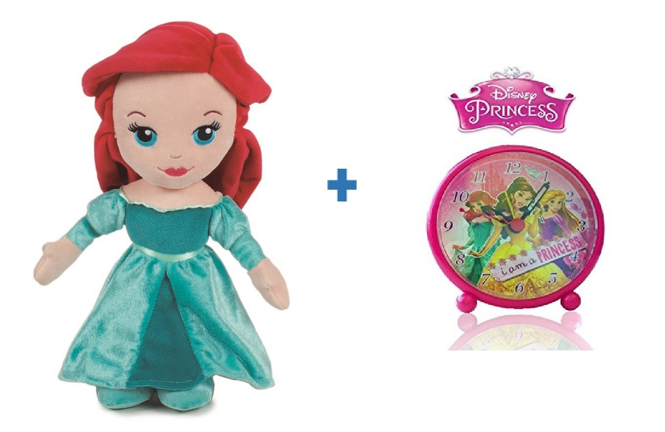Amazon.es: Peluche princesa Disney ARIEL 30 cm + Reloj ...