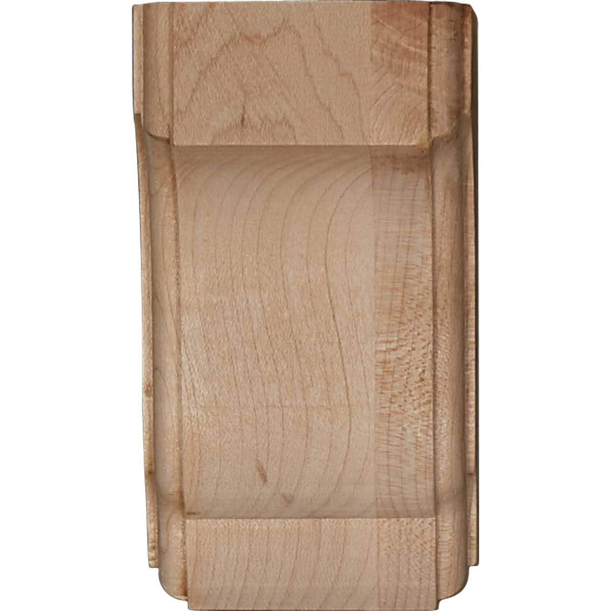 6-Pack Ekena Millwork COR02X02X04CPMA-CASE-6 2 1//2 inch W x 2 3//4 inch D x 4 1//2 inch H Capistrano Mission Corbel , Maple