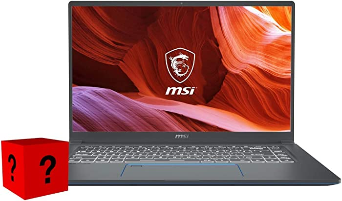 """XPC MSI Prestige 15 Notebook (Intel 10th Gen i7-10710U, 16GB RAM, 512GB NVMe SSD, GTX 1650 4GB, 15.6"""" Full HD, Windows 10 Pro) Professional Laptop"""