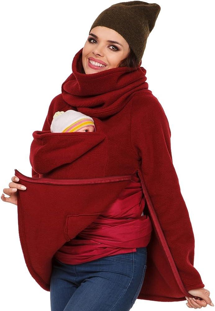 MissChild Donna Felpe del Portare Neonato Mommy Kangaroo Sleeping Bags Felpa per Maternit/à cappotto con cappuccio autunno e inverno