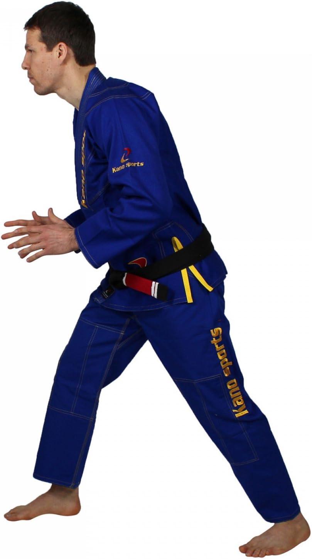 Amazon.com: Kano Deportes Jui Jitsu Gi Azul con Amarillo ...