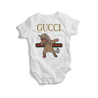 3b893035ca Amazon.com: Stylish Baby Bodysuit Gucci Unicorn On Baby Bodysuit ...