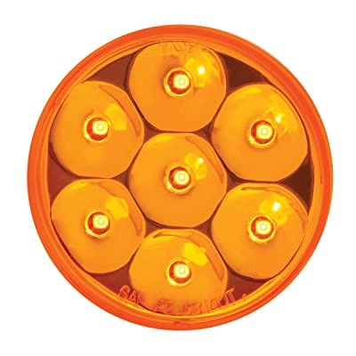 "GG Grand General 76545 Amber/Amber Light (2"" Low Profile Pearl 7 LED Dual/3Wires): Automotive"