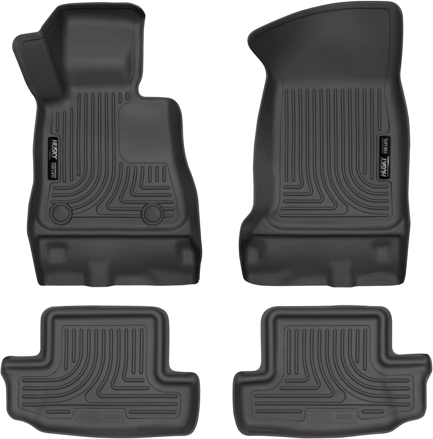 Unique Black TPE All-Weather Guard Includes 1st and 2nd Row: Front oEdRo Floor Mats Compatible for 2016-2019 Chevrolet Camaro Full Set Liners Rear
