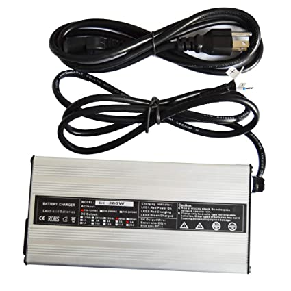 Amazon.com : ScaAuto Golf Cart Charger 48V 6A Battery Charger ... on ez go install lights on, ez go charger replacement, ez go 36 volt battery charger, elite ez go battery charger, electric car battery charger, golf car charger, ez go powerwise qe battery charger, ez go powerwise charger manual, ez go textron troubleshooting, ez go battery charger problems, ez go charger parts, ez go powerwise 36v charger, ez go q charger, ez go accessories charger, ez go golf seat,